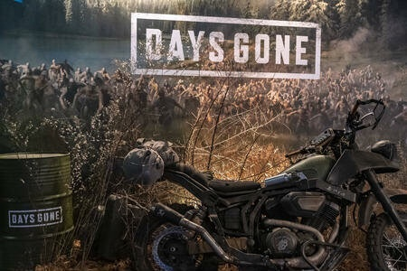 Barcelona, Catalonia, Spain. 30th Nov, 2018. A video game placard for Days Gone is seen during the fair.The Salon, Barcelona Games World fair, dedicated to the video game industry presents its main exhibition in Barcelona between November 29 and December